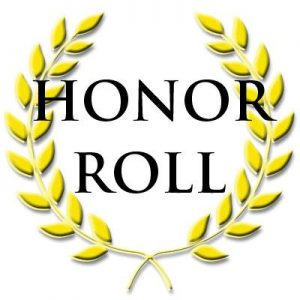 Congratulations to Our First Nine Weeks Honor Roll Students