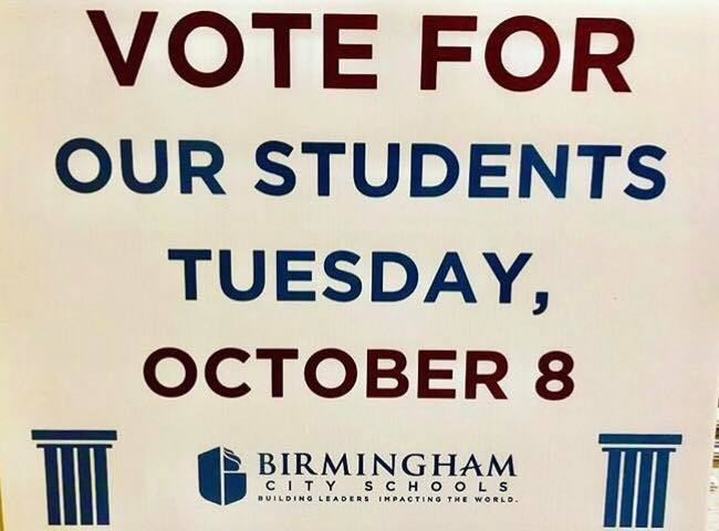 VOTE FOR OUR CHILDREN on October 8th!