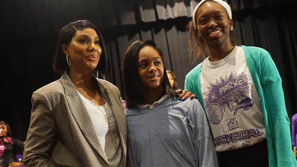 Singer and Reality TV Star, Tamar Braxton, Surprises Students