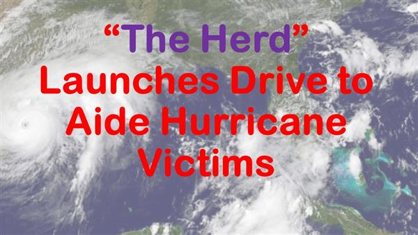 Herd Launches Drive to Aide Hurricane Victims