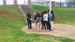 Officer Glendon Archie Caught Doing Good at Wenonah High School