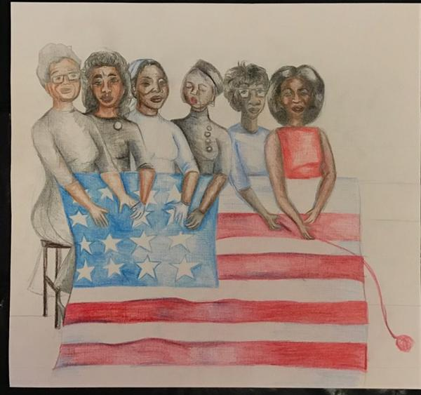 Congratulations Triniya Cooky for being chosen as a finalist for the 957 Jamz Black History Month Art Competition