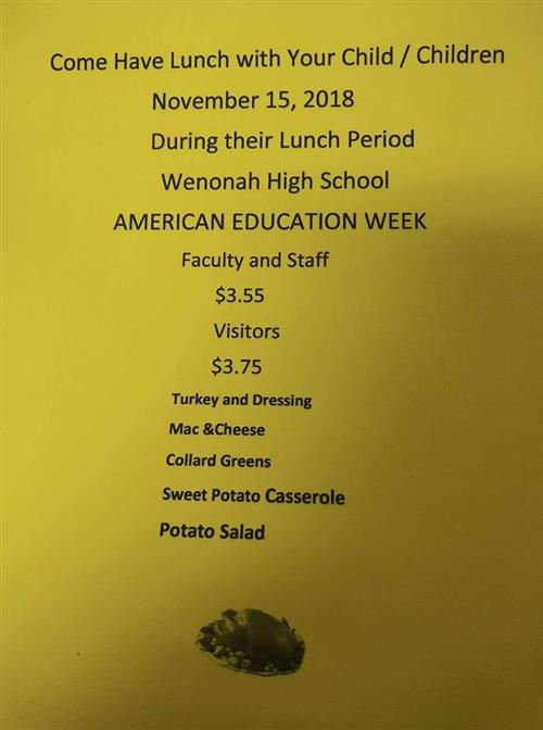 Wenonah Thanksgiving Lunch