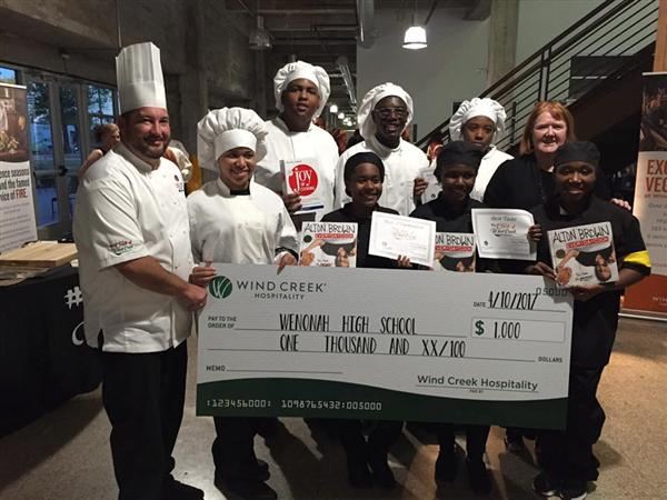 Dianne Pilgrim and Wenonah Culinary Arts students have been selected to take part in the Windcreek Casino Cook-off