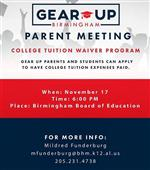 Gear Up Parent Meeting