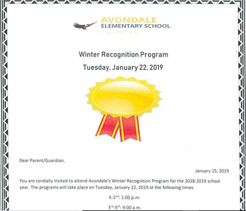 Winter Recognition