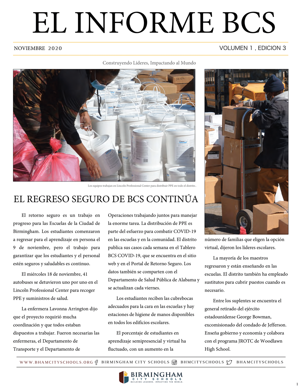 BCS November 2020 Newsletter (Spanish)
