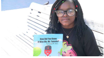 "Ayrika Jones, 5th grader at Glen Iris Elementary School, publishes her first book,""How Did You Know"