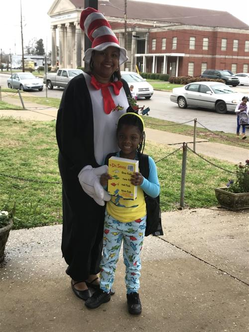 student on read across america day