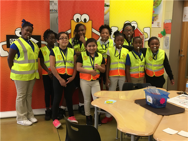 ALDOT Donates Safety Vest/Whistle to Tuggle's Safety Patrol