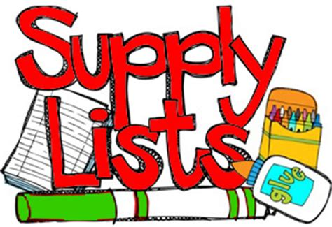 2019-2020 Tuggle Elementary School Supply List for Kindergarten through Fifth Grade