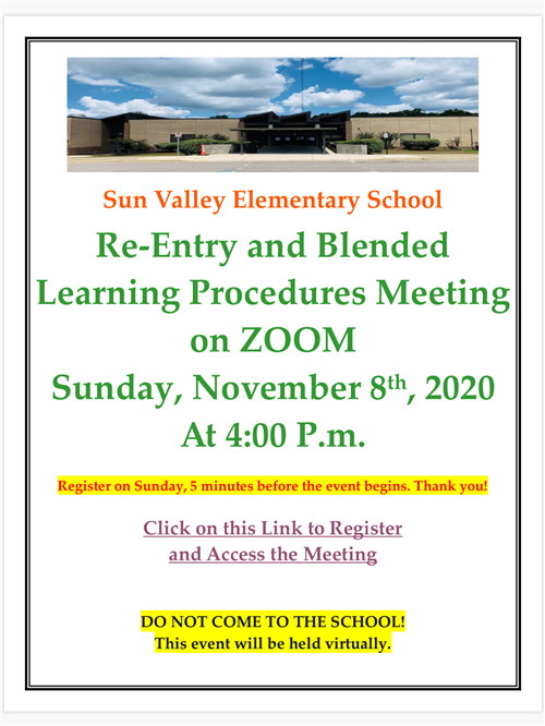 Re-entry Blended Learning Zoom Meeting