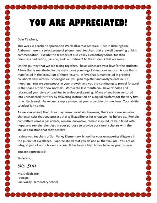 Happy Teacher's Appreciation Week!