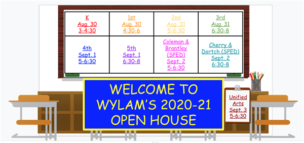 Open House Zoom Links