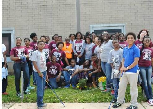 "Arrington Middle School initiates a school-wide clean-up, through the ""Keep Birmingham Beautiful Contest"""