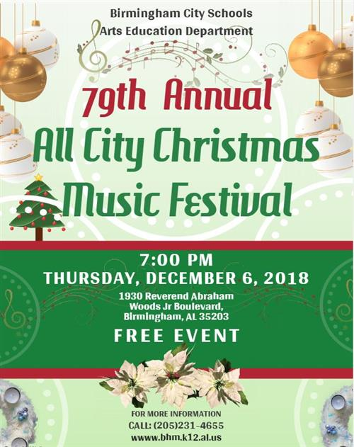 All City Christmas Festival Flyer