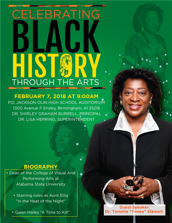 RESCHEDULED TO FEBRUARY 14TH:  CELEBRATE BLACK HISTORY THROUGH THE ARTS