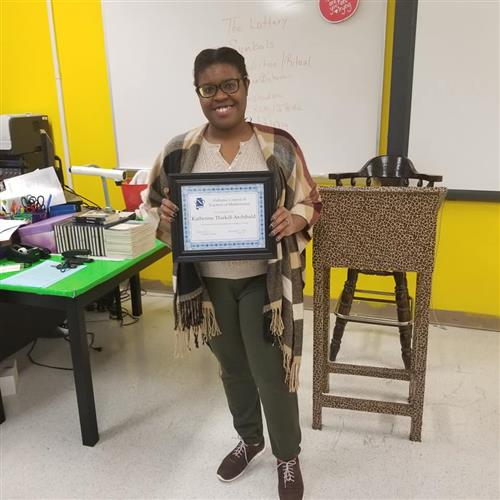 Katherine Thirkill-Archibald Named 2018 ACTM Teacher of the Year