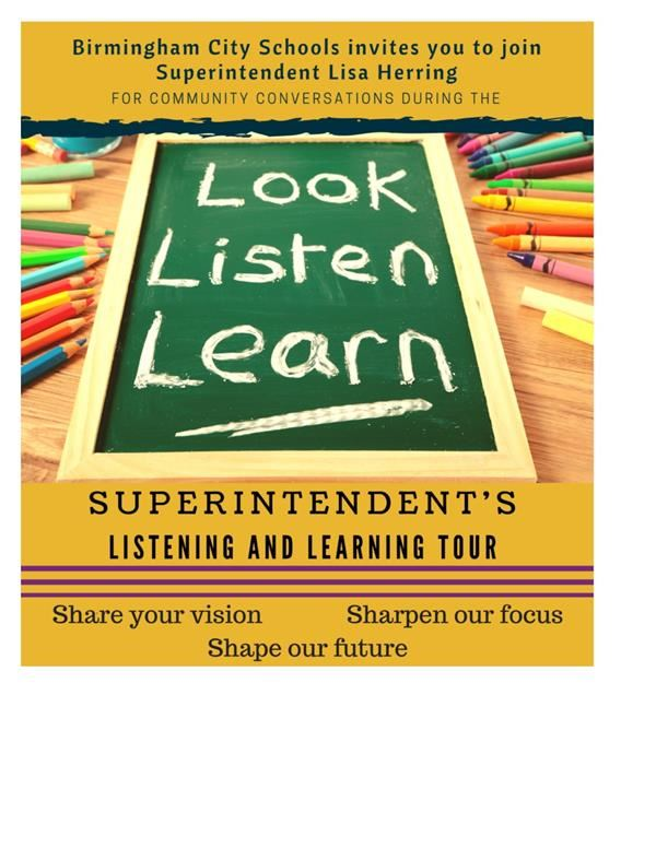 Superintendent Begins Virtual Listening and Learning Tour