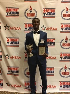 Congratulations to Huffman High School's Thierry Havah!  2018 Bryant-Jordan Student Athlete Achievement Award Recipient