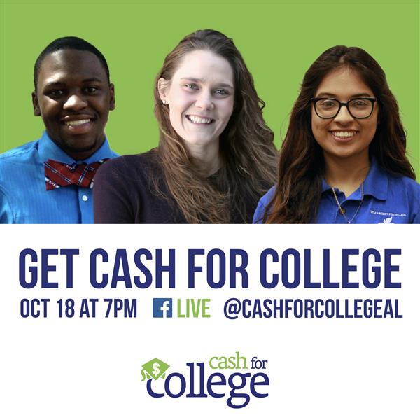 Cash for College and UAB to Host Financial Aid Webinar at 7 pm Tonight on Facebook LIVE!