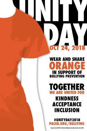 BCS is Proud to Take a Stand on Bullying by Celebrating Unity Day, October 24, 2018.