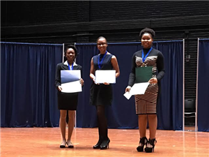 First place winner- Taylor Sellers, Second place winner- Denitra Streeter,  and Third place winner- Khaia Wheeler