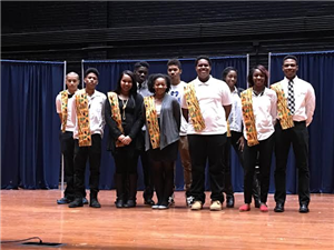 "Speech Choir presented poem ""What is Black History?"" during the oratorical contest program."