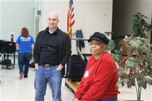 Author Lou Anders and Sandra Brown, Birmingham Board of Education Member